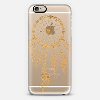 GOLD DREAMCATCHER - CRYSTAL CLEAR PHONE CASE iPhone 6 case by Nika Martinez | Casetify