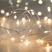 String Lights,ANJAYLIA 16.5Ft/5M 50leds Bright light Garden Home Party Festival Decorations Battery Operated Lights(Warm White)