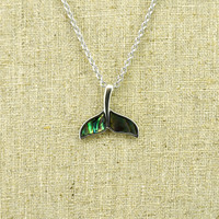Abalone Whale Tail Necklace