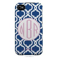 | Simply Stated Snap on iPhone 4 Cases | Chain Simply Stated Monogram iPhone 4 Case  | Lipstick Shades