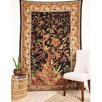 Tree of Life Tapestry - Blue