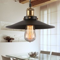 Loft RH Warehouse Black Pendant Lights Hanging Lamps Vintage Kitchen Fixtures Lighting for Restaurant dining room luminaire