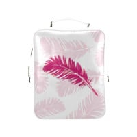Pink feathers Square Backpack (Model1618) | ID: D405584