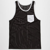 Shouthouse Side Line Mens Mesh Tank Black  In Sizes