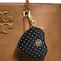 Tory Burch Kerrington Printed Heart Coin Case Key Fob
