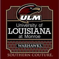 Southern Couture ULM Warhawks Preppy Logo University of Louisana Monroe Girlie Bright T Shirt