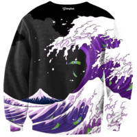 Purple Drank Waves Crewneck