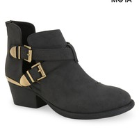 Aeropostale Womens Cut-Out Buckle Booties - Black,