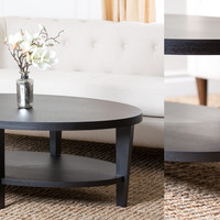 Forgia Oak Finish Coffee Table