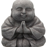 Praying Happy Buddha Statue, 8 Inches