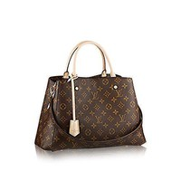 Tagre™ LV Women Shopping Leather Tote Handbag Shoulder Bag Louis Vuitton Montaigne MM Monogra