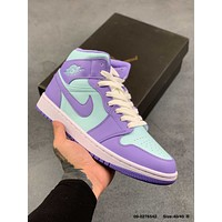 NIKE Air Jordan 1 Mid AJ1 Versatile casual sports board shoes