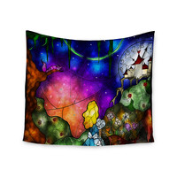 "Mandie Manzano ""Fairy Tale Alice in Wonderland"" Wall Tapestry"