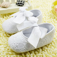 Baby girl prewalker shoes pure white soft sole shoes infant leisure first walkers