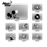 Laptop Sticker Vinyl Decal for Apple Macbook Pro Air 13 11 15 Cartoon Style Micky Dog CD For MacBook Skin Free Shipping