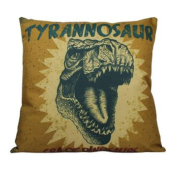 Trex | Tyrannosaur | Dinosour | Fun Gifts | Pillow Cover | Home Decor | Throw Pillows | Happy Birthday | Kids Room Decor | Room Decor