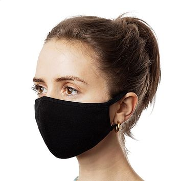 Black Reusable Silverplus® Face Masks (3-Pack)