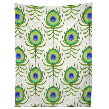 Jacqueline Maldonado Peacock Feather Ikat Tapestry