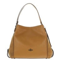 COACH Womens Mix Leather Edie 31