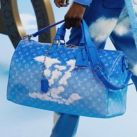 Louis Vuitton LV Men's and women's airport travel bag