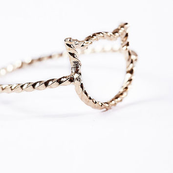 Tiny Cat Ring at Urban Outfitters