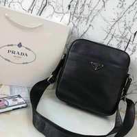 PRADA High Quality Fashionable men  Leather Handbag Tote Shoulder Bag Crossbody Satchel