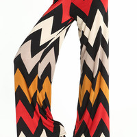 WIDE LEG CHEVRON PANTS