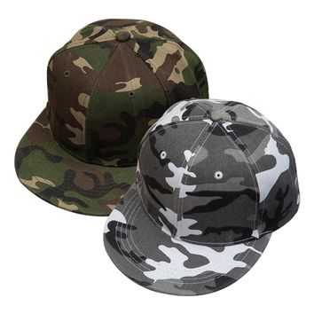 Trendy Winter Jacket Classic Snow Camouflage Snapback Hats men's Tactical Caps  Camo Baseball Cap For Women High Quality Sunscreen hats AT_92_12