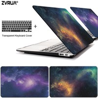 ZVRUA STAR laptop Case for MacBook Air 11 13 inch for APPLE MAC Pro with Retina 12 13.3 15 with Touch Bar New + keyboard cover