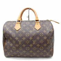 Authentic Louis Vuitton Hand Bag Speedy 30 M41526 Browns Monogram 180884