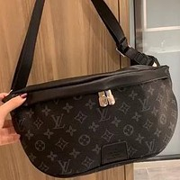 LV simple retro presbyopia men and women chest bag waist bag shoulder bag
