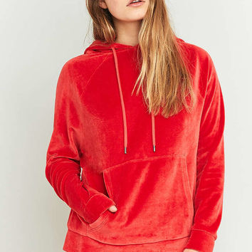 BDG Velour Hoodie - Urban Outfitters
