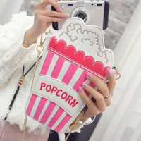 Women Shoulder Bag Personality Embroidered Letters Chain Crossbody Bag Women messenger Bag Ladies Handbag Cute clutch purse