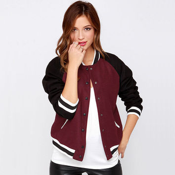 Block And Stripe Button Pockets Jacket