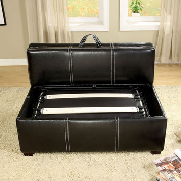 Ottoman w/ Pull-out Bed CM4703BK