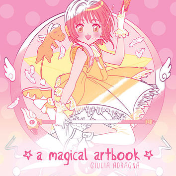 A MAGICAL ARTBOOK • artbook and coloring book TOGETHER! 26 fanarts from magical anime manga (both color and black & white)
