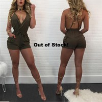 BACKLESS SAFARI ROMPER