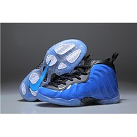 Kids Nike Air Foamposite One Royal Blue Sneaker Shoe US 11C - 3Y
