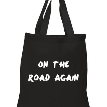 """One Direction """"On The Road Again"""" 100% Cotton Tote Bag"""