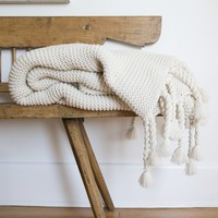 Trestles Antique White Throw