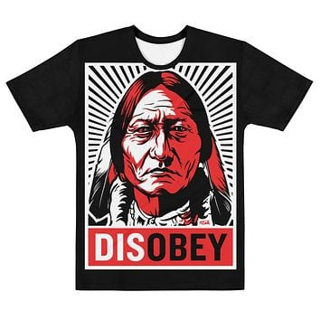Sitting Bull Civil Disobedience Disobey Graphic All-Over Men's T-shirt