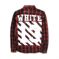 cc kuyou Off White Red Flannel