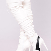 Going The Distance Boot - White