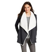 Faux Sherpa Cardigan Charcoal - Mossimo Supply Co. : Target