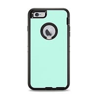 The Subtle Solid Green Apple iPhone 6 Plus Otterbox Defender Case Skin Set