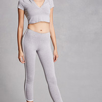 Contrast Piped Leggings