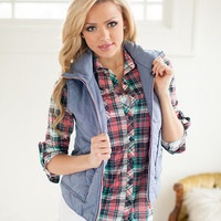 Ready for the Hike Vest in Light Blue