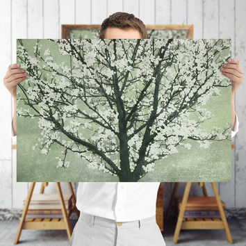 Peaceful Tree Art Print - Green Nature Wall Art, Digital Download | Botanical Decor by Mila Tovar
