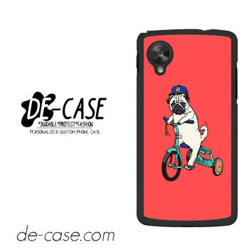 Pug Bicycle For Google Nexus 5 Case Phone Case Gift Present