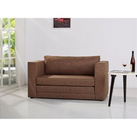 Gold Sparrow Corona Fabric Loveseat in Brown